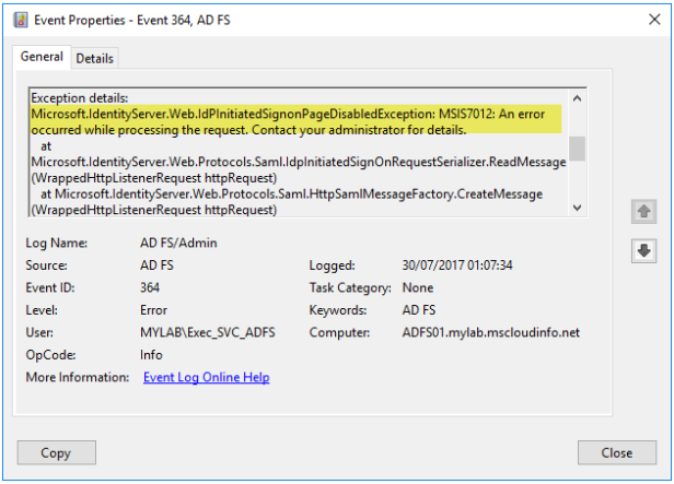ADFS Idp SignOn page disabled by default on Windows Server 2016… – A